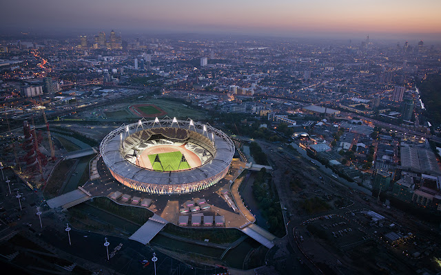 Terralonginqua: London 2012 Olympic Stadium Aerial HQ