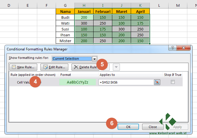 Cara Menghapus Setting Conditional Formatting Excel