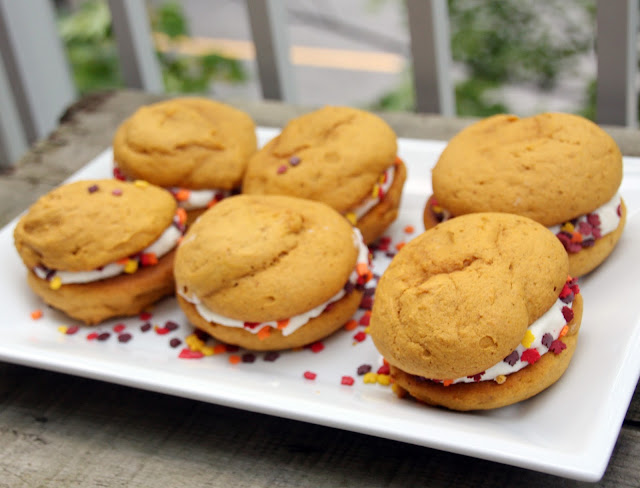pumpkin whoopie pies with buttercream icing
