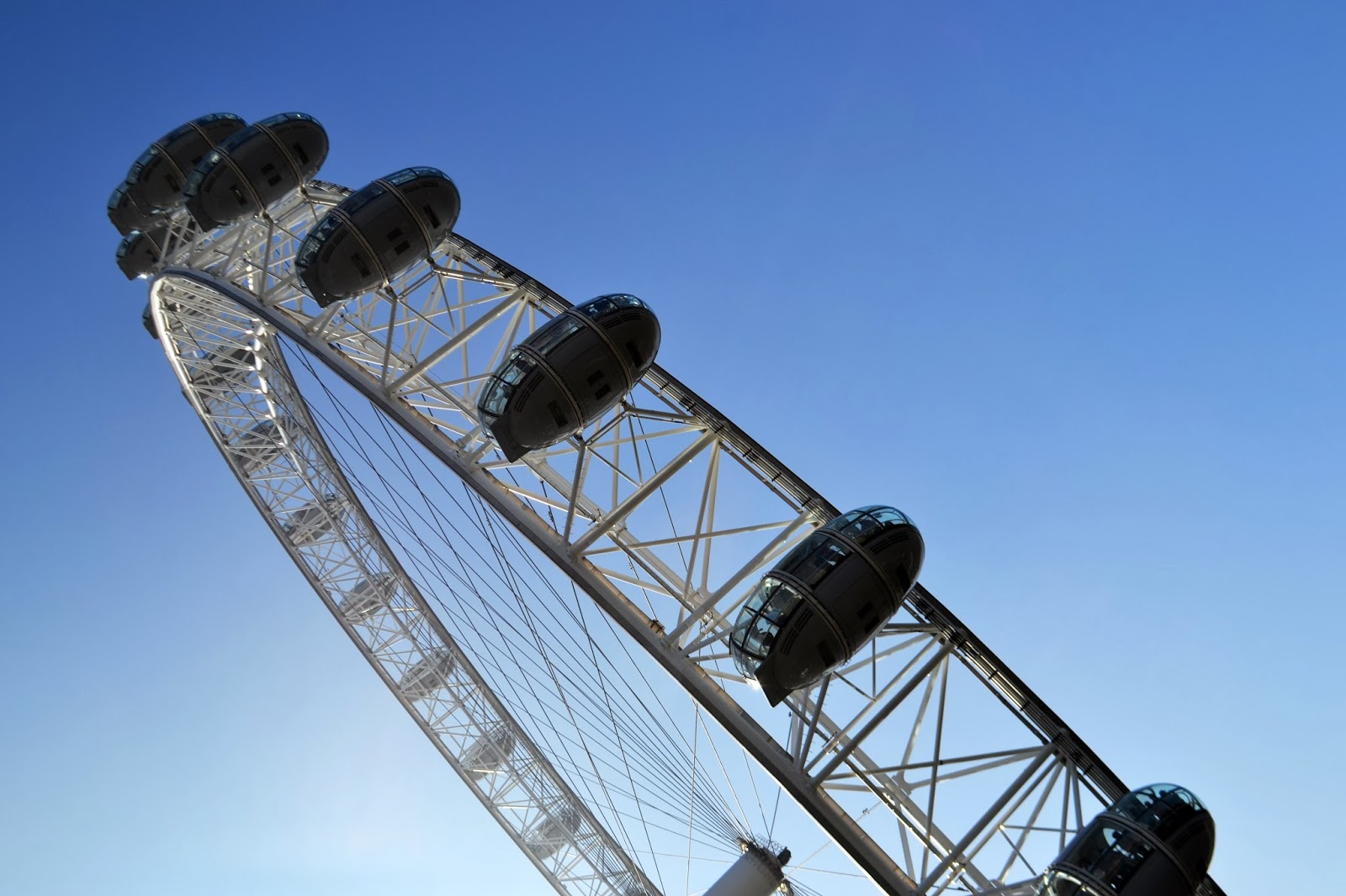 Looking up at the london eye from below