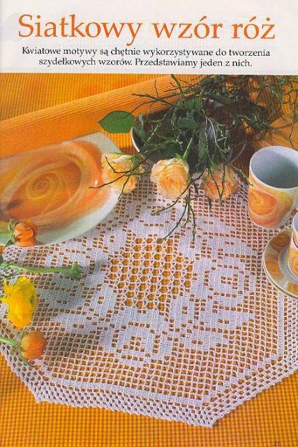Carpeta hexagonal tejida con ganchillo - con esquema