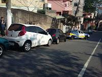 GCMs da 1º Inspetoria da Guarda Civil de Santo André localizam veículo dublê nas proximidades da favela Sacadura Cabral