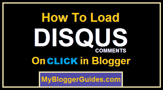 Load Disqus On Click, On Scroll Load Disqus