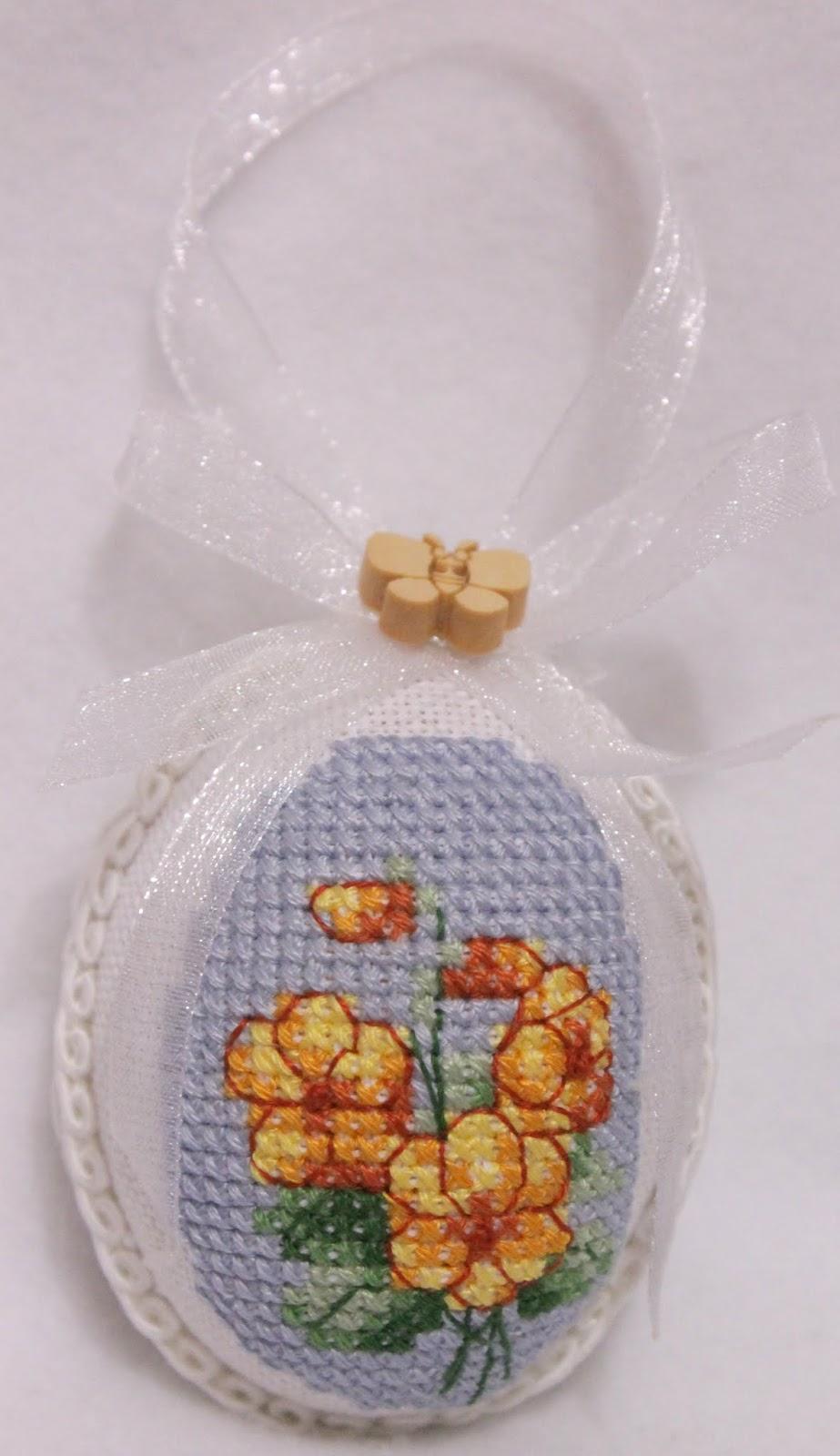 Яйцо к Пасхе с вышивкой