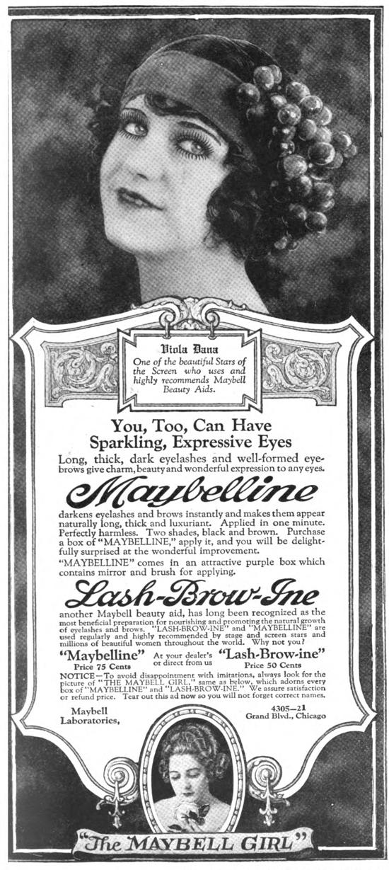Maybelline ad 1920 - Viola Dana