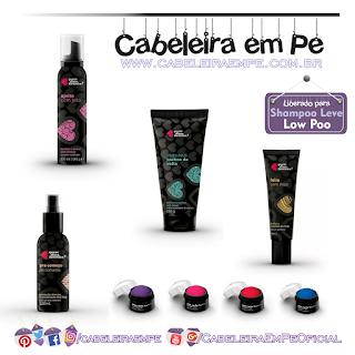 Produtos da Linha Maquiagem Pra Cabelos - Quem Disse Berenice Liberados para Low Poo (Serum, Modelador para Cachos, Mousse, Primer e Giz)