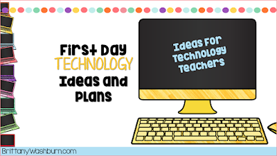 So you got the technology teaching job, now what? Whether you're coming from the general ed classroom or you're a brand new teacher, these ideas will set you up for a successful first day of class with your students.