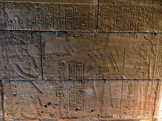 Jeroglificos, Templo de Debod, Parque del Oeste, Monte de Principe Pío, Madrid