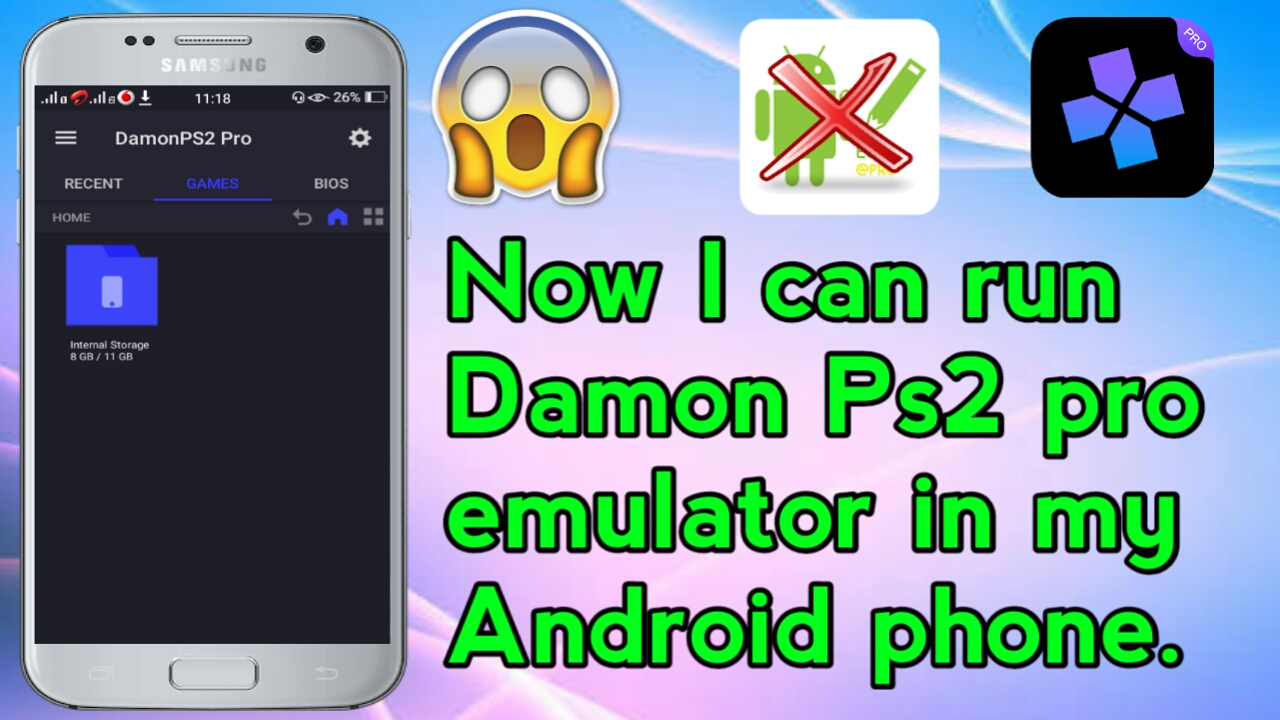Download and run damon ps2 pro emulator in any android device