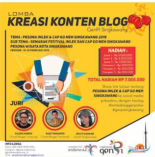 """Tulisan ini diikutsertakan dalam Lomba Menulis Blog """"Generasi Pesona Indonesia Kota Singkawang 2019"""" yang diselenggarakan oleh Generasi Pesona Indonesia Kota Singkawang."""