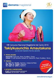 Se inicia el VIII Concurso de Canto Magisterial este sábado 24 en Ayacucho