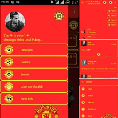 BBM Tema Manchester United V3.0.1.25 Apk - CLONE