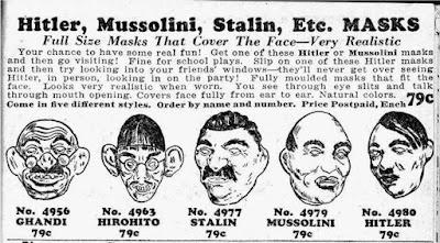 Hitler, Mussolini, Stalin, Etc. MASKS
