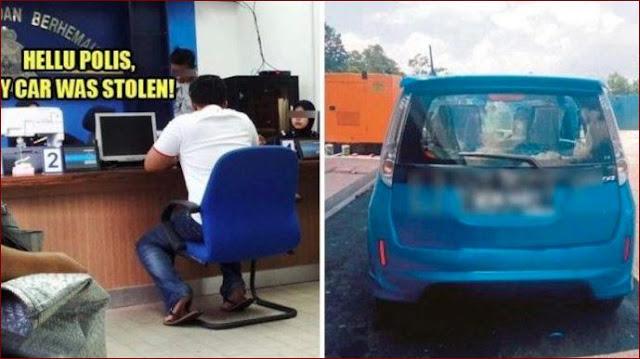 Panik Kehilangan Mobil, Pria Ini Lapor Polisi Yang Ternyata Mobilnya Lupa Memarkirkan Dimana