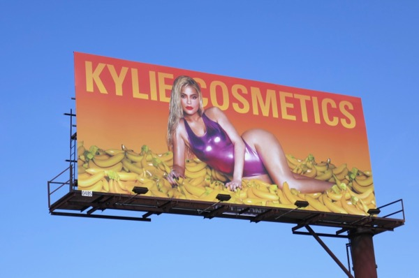 Kylie Cosmetics bananas S18 billboard