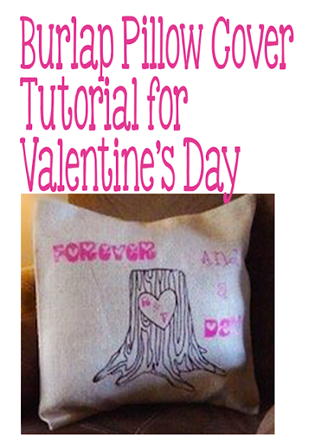 Burlap Pillow Blank using htv for decorating your home on Valentines Day