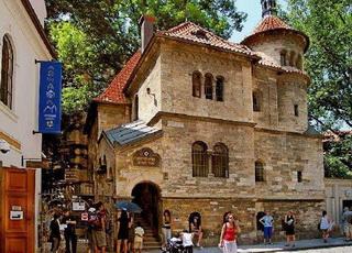 Tempat wisata terkenal di Praha Prague Ceko populer Josefov Jewish Quarter Prague