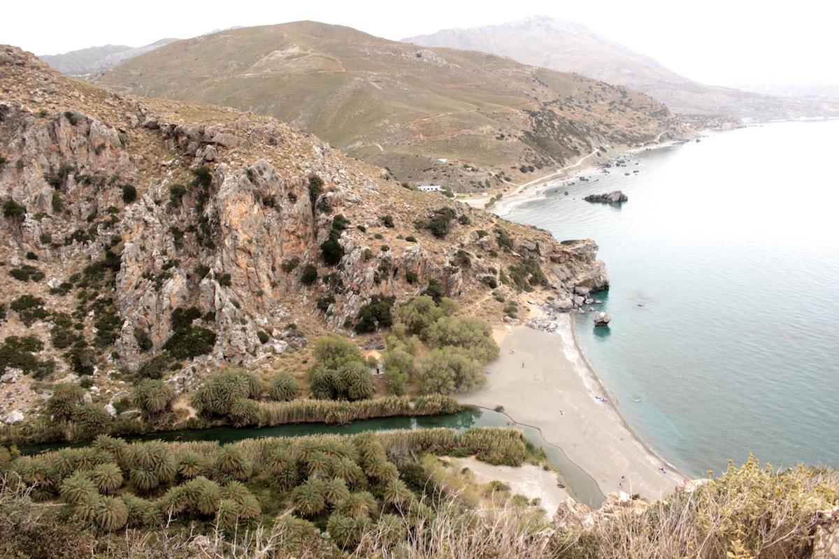 Palmenstrand Bucht Preveli Rethymno Kreta Reisebericht Travel Diary