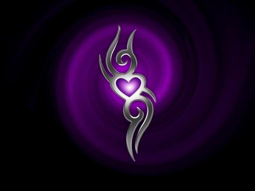Purple And Black Hearts Wallpaper: HD Desktop Wallpapers Free Online: Tribal