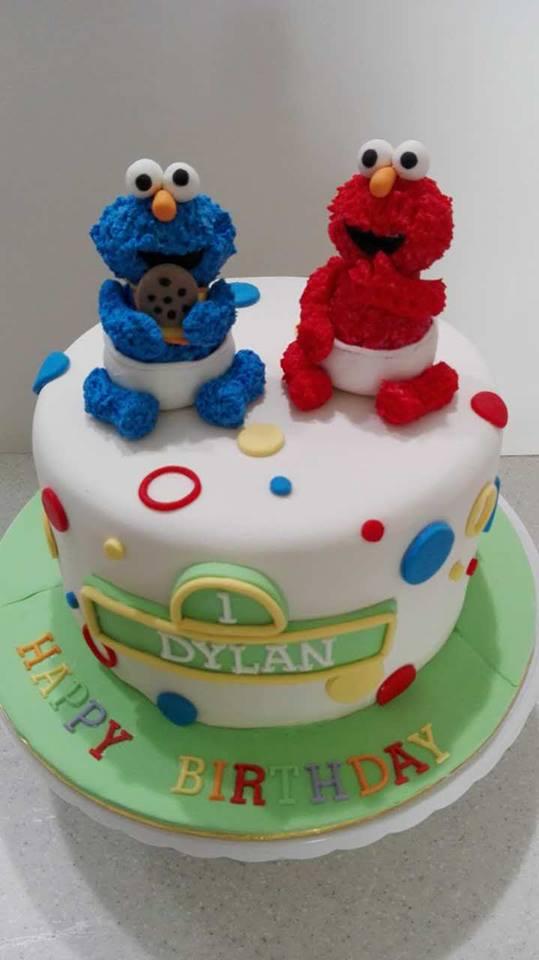 Fabulous Ys Bakery 04 659 9040 0124237163 Sesame Street Design Cake Personalised Birthday Cards Petedlily Jamesorg