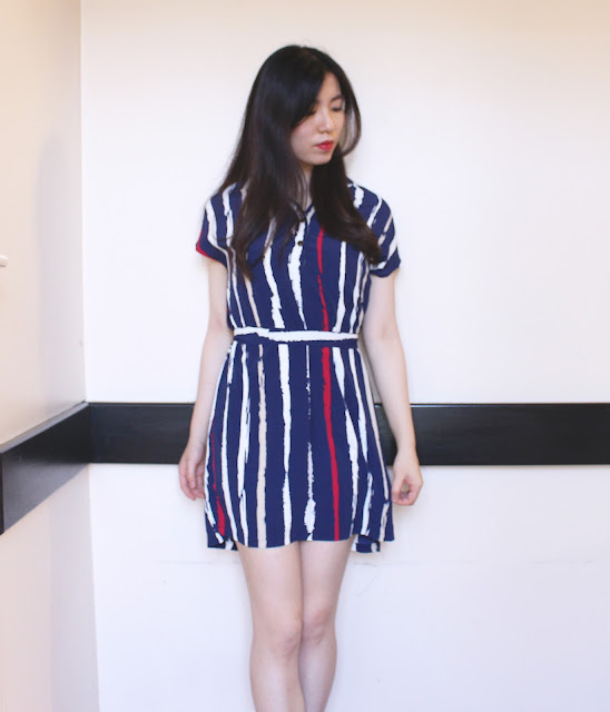 gearbest haul, gear best review, gearbest shop review, gear best dress blog review, gearbest shop, stripe shirt dress blue, gearbest dresses