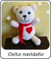 Osito Teddy navideño amigurumi