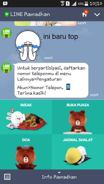Tips Menggunakan Aplikasi Line Messenger di Bulan Puasa