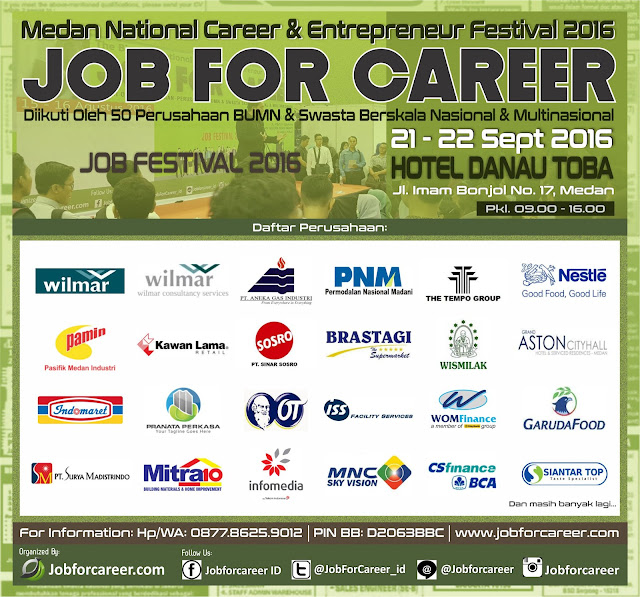 Job fair Medan - Job For Career Hotel Danau Toba