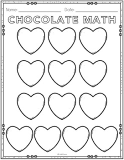 FREE math printable for Valentine's Day activity