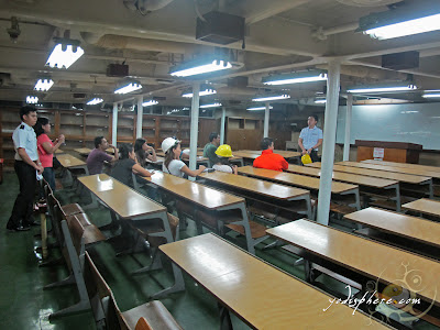 Lecture room onboard TS KFO