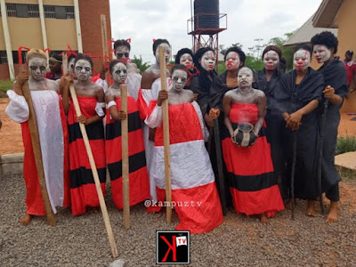 See the unusual way UNIZIK inducted their Theatre Arts Department Freshers