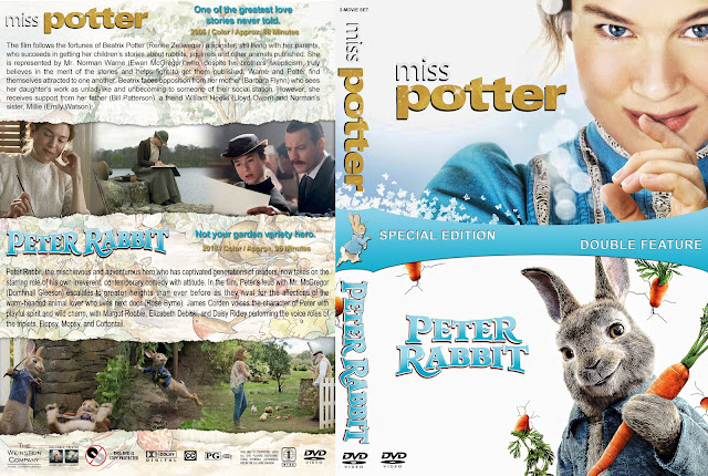 Miss Potter / Peter Rabbit Double Feature DVD Cover