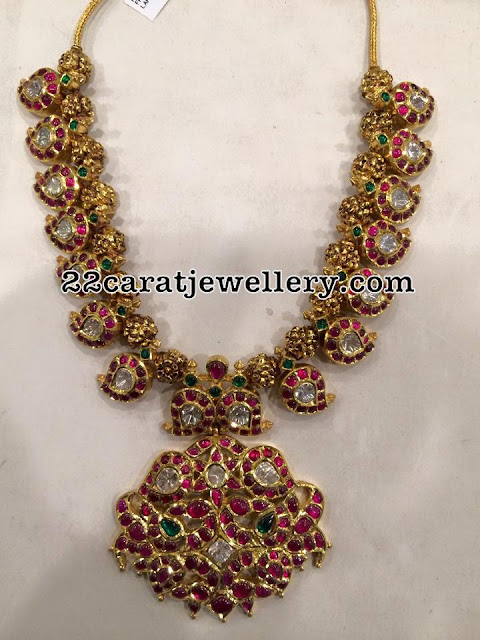 Mango Necklace with Nakshi Balls