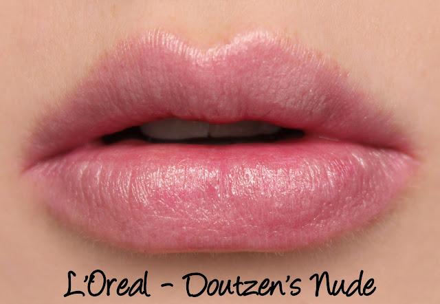 L'Oreal Color Riche Collection Exclusive Lipsticks - Doutzen's Nude Swatches & Review