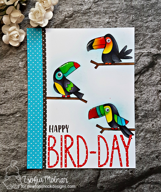 Happy Bird-day by Zsofia features Toucan Party by Newton's Nook Designs; #newtonsnook