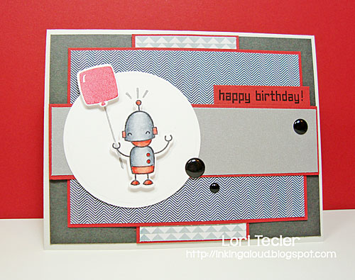 Happy Birthday card-designed by Lori Tecler/Inking Aloud-stamps from Lawn Fawn