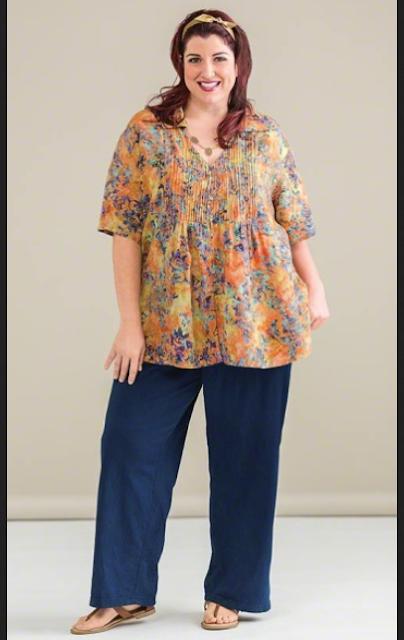 model atasan batik untuk wanita gemuk
