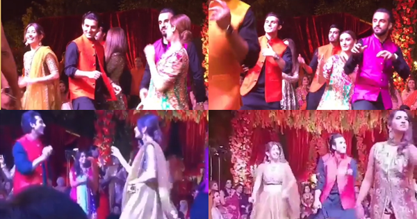 Syra , Shahroz , Momal Sheikh & Shahzad Sheikh dancing at a marriage in Lahore ! BY SAEED NASIR