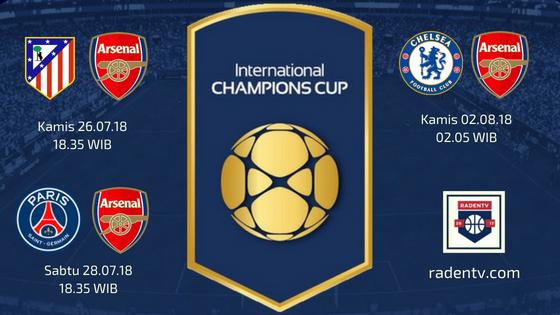 Jadwal Arsenal ICC 2018