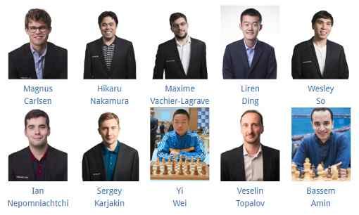 Les 10 participants du tournoi d'échecs d'Abidjan - Photo © site officiel