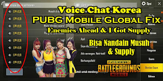 Quick Chat Korea PUBG Mobile Global Fix Enemies Ahead & I Got Supply