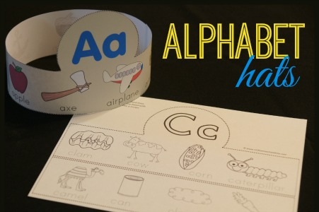 Colouring Pages Alphabet Printable : Free alphabet hats