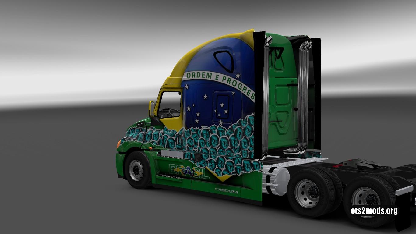 Brasil Skin for Freightliner Cascadia 2018
