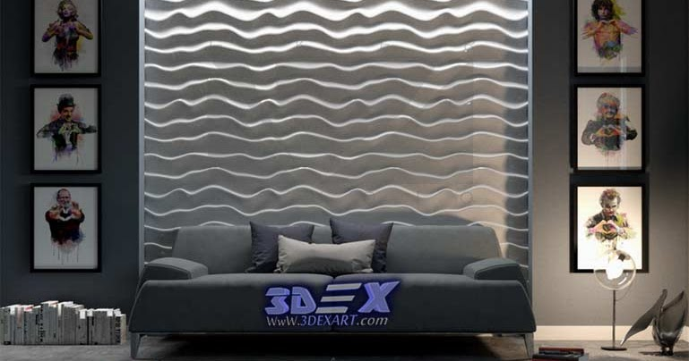 Decorative 3d gypsum wall panels and plaster wall paneling designs ...