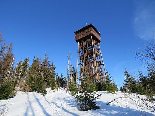 Wieża widokowa na Gorcu.