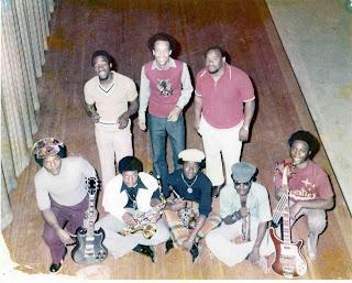 "Equatics photo courtesy Benjamin Crawford. Front row, left to right Carlton Savage, Renon Sumpter, Calvin Billups, Daniel ""Buddy"" Slade, Benjamin Crawford. Back row, left to right Alvin Paige, Leo Davis, ""Coach"" Frank Johnson"