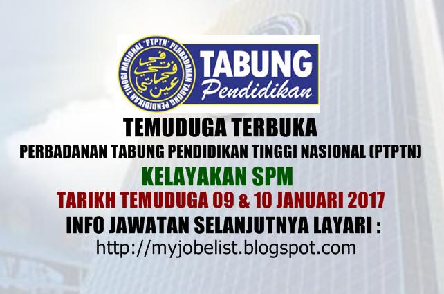 Temudug Terbuka Perbadanan Tabung Pendidikan Tinggi Nasional (PTPTN) Januari 2017