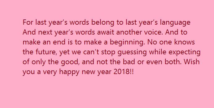 Happy New Year 2018 Countdown Eve