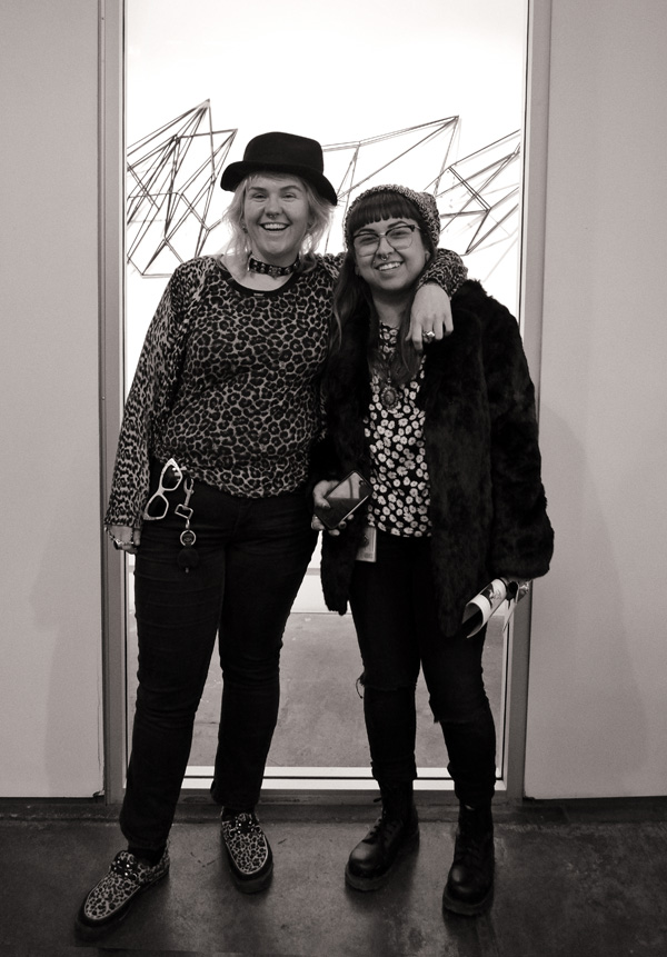 Women's art student style, Jeans prints and hats - Street Fashion Sydney - Photographed by Kent Johnson.