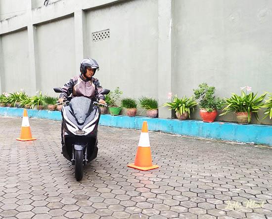 PCX Hybrid di Balikpapan, test ride